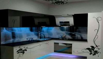 фотообои для кухни водопад