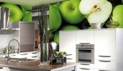 фотообои для кухни яблоки