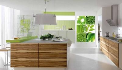 фотообои для кухни зеленые листья
