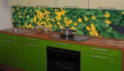 фотообои для кухни желтые цветы