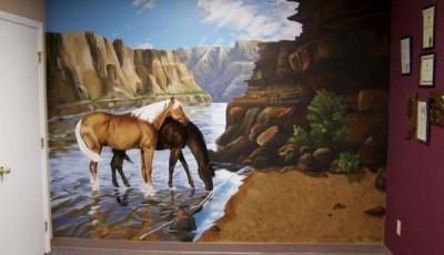 фотообои лошади пара