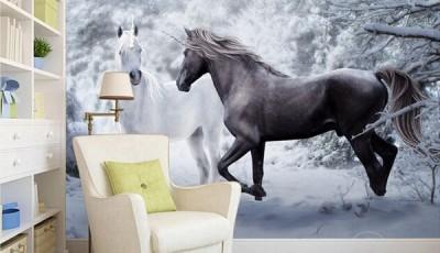 фотообои лошади природа