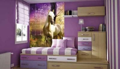 фотообои лошади в детской комнате