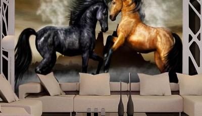 фотообои лошади в зале