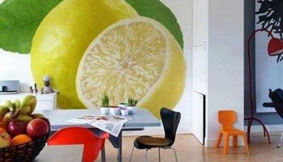 фотообои на кухню лимон