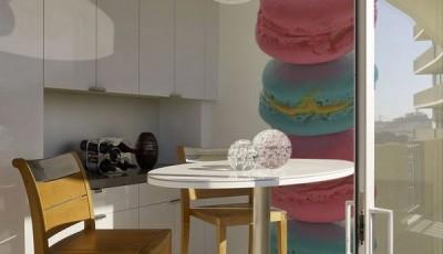 фотообои на кухню пончики