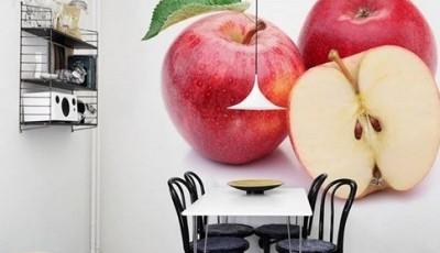 фотообои на кухню яблоки
