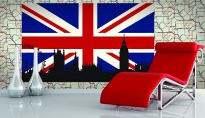 Фотообои Лондон черно-белые в интерьере (фото)