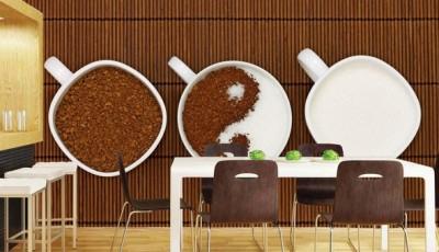Фотообои чашка и кофе и молока