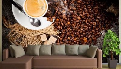 Фотообои кофе коричневый диван