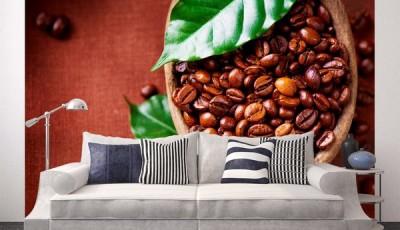 Фотообои кофе светлый диван