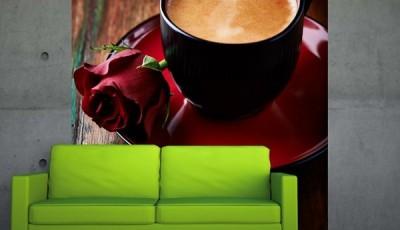 Фотообои кофе зеленый  диван