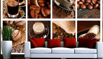 Фотообои коллаж кофе