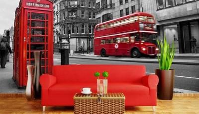 Фотообои с видами Лондона черно белые