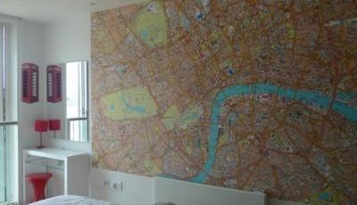 Фотообои с видами Лондона карта