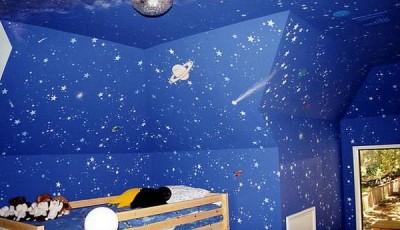 Фотообои со звездным небом в детской