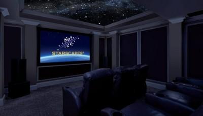 Фотообои со звездным небом в комнате