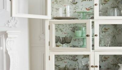 Как обклеить шкафчик для кухни обоями