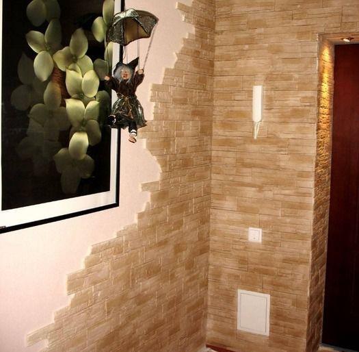 Как сделать стену из декоративного камня