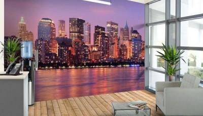 фотообои Нью-Йорк в рабочем интерьере
