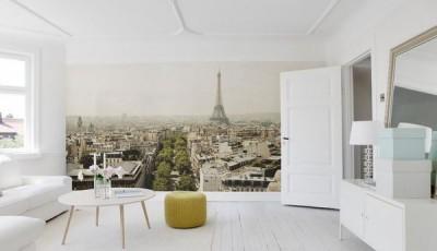 фотообои Париж в современном интерьере