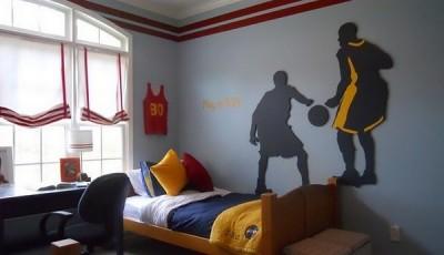 фотообои баскетбол наклейки на стену