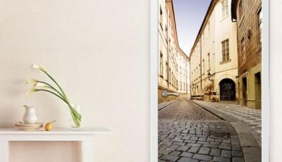 Фотообои на дверь: самоклеющиеся и с перспективой (фото интерьера)