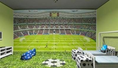 фотообои футбольное поле, мяч
