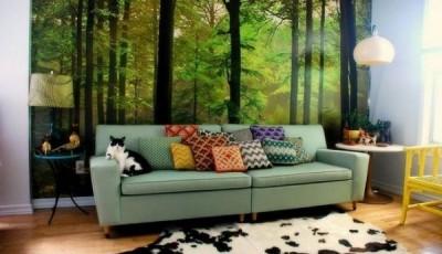 фотообои лес коты