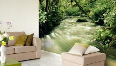 фотообои лес ручей