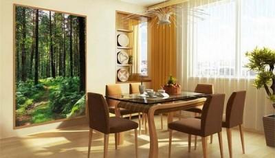 фотообои лес в столовой
