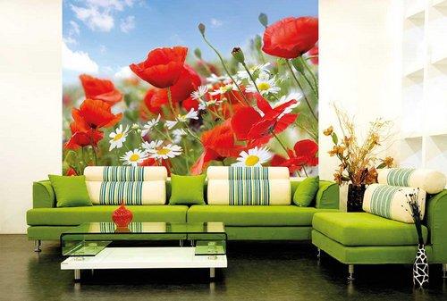 Фотообои с большими цветами на стену 74