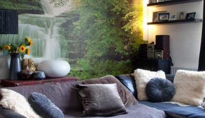 фотообои природа водопады на стену
