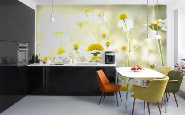 Дизайн кухни ромашки