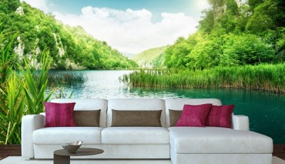 фотообои с природой на стену озеро
