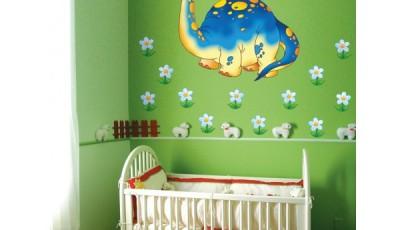 фотообои с ромашками в интерьере детской комнаты