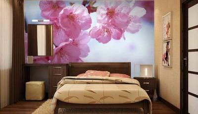 фотообои сакура крупные цветы