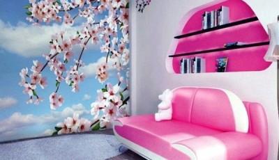 фотообои сакура розовые
