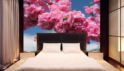 фотообои сакура в спальне
