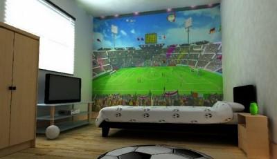 фотообои стадион в комнате