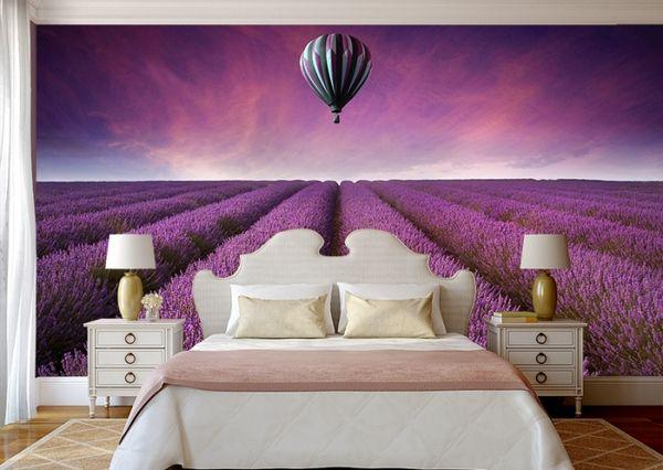 фотообои цветы на стену в интерьере фото сирени маков и других