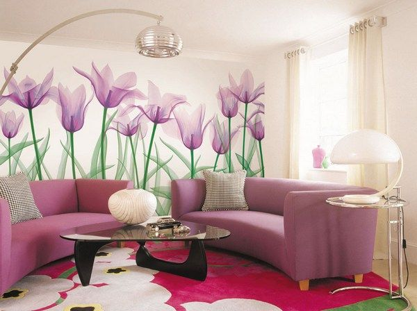 Фотообои цветы -  флора в декоре интерьера