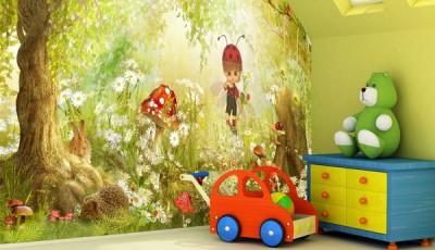 фотообои в детскую комнату на мансарде