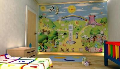 фотообои в детскую на всю стену