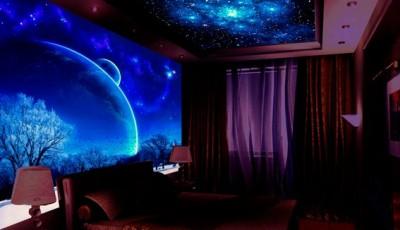 обои звездное небо на потолок