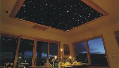 обои звездное небо на потолок гостиной