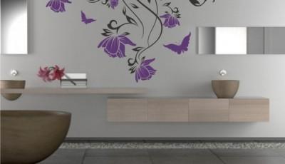 рисунки для обоев в ванной трафареты