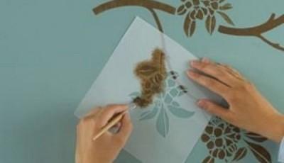 трафареты для обоев рисунок своими руками