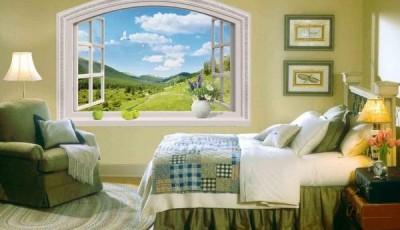 Фотообои вид из окна холмы