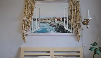 Фотообои вид из окна морские скалы